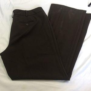 Lane Bryant Size 16 Tall Brown Wide Leg Pants